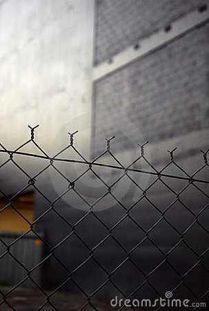 URBAN CHAIN LINK FENCE Stock Photos - Image: 1927973