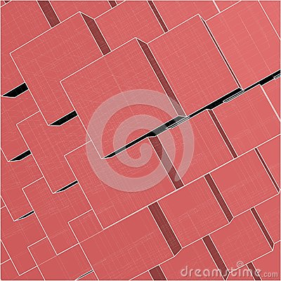 Urban City Boxes Cube With Hidden Lines Vector 174
