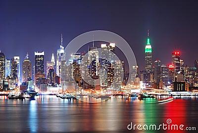 Urban City night scene