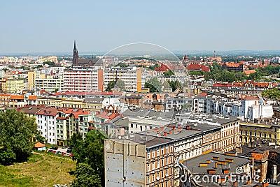 Urban cityscape of Wroclaw