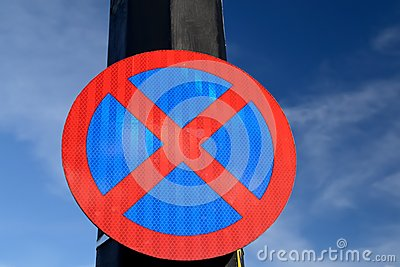 Urban clearway sign.