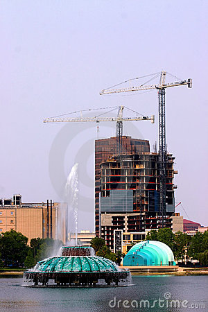 Urban Cosntruction with cranes