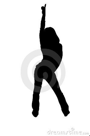 Free Urban Dancer Silhouette Royalty Free Stock Images - 266509
