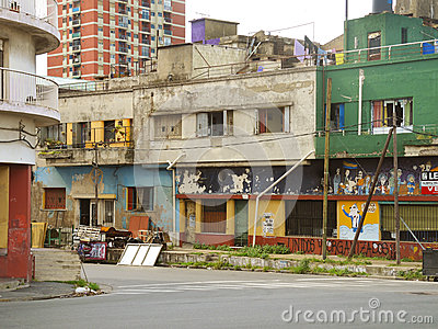 Urban decay in La Boca, Buenos Aires Editorial Photography
