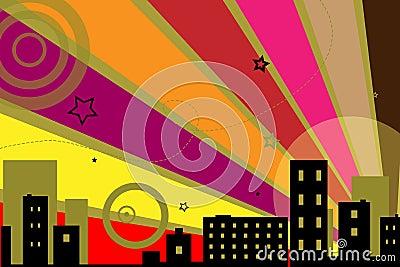 Urban design background - vector