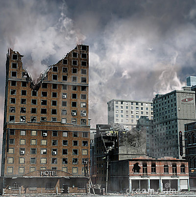 Free Urban Destruction Royalty Free Stock Image - 23227606