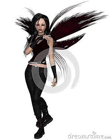 Urban Fairy Dressed in Black