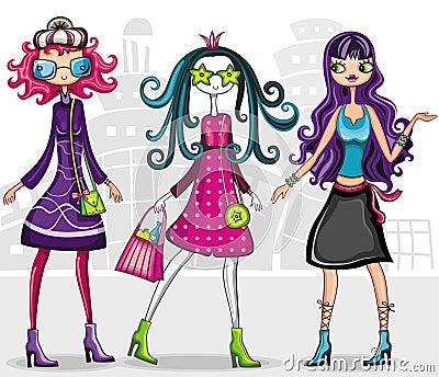 Urban fashion girls