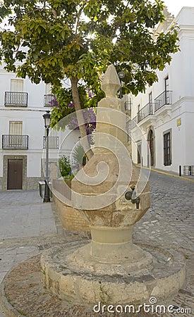 Urban fountain in Tarifa