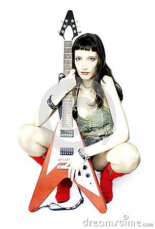 Free Urban Guitar Player Stock Image - 1044971