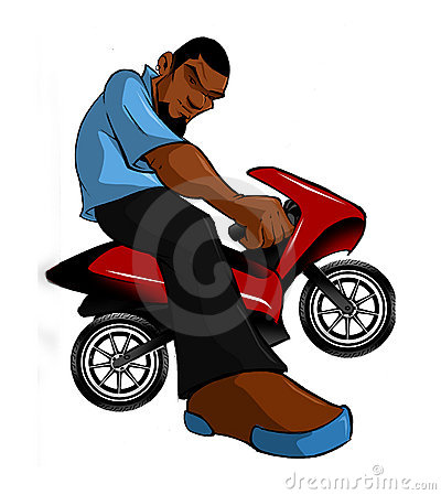 Urban Hip Hop Mini Bike Motorcycle Rider