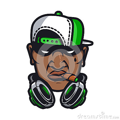 Urban HipHop character Vector Illustration