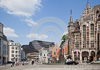 Brussels, cityscape Editorial Stock Photo