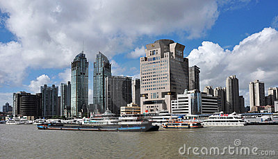 Urban landscape of shanghai city Editorial Photo