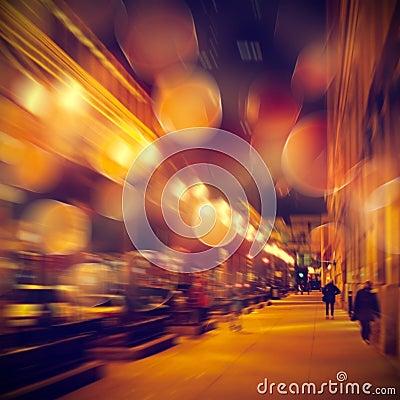 Free Urban Life At Night Royalty Free Stock Images - 48854529