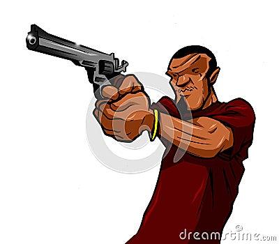 Urban Man With a Gun