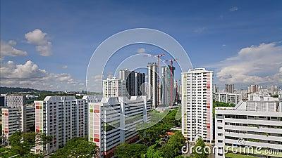 Urban modern residential buildings, Singapore stock video footage