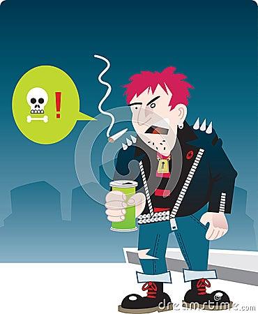 Urban punk character