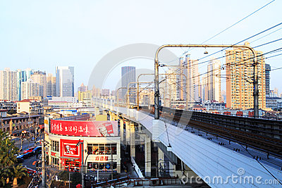 Urban rail transit in Shanghai Editorial Photography