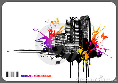 Urban rainbow background