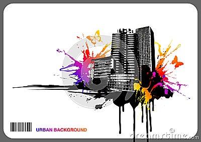 Urban rainbow background