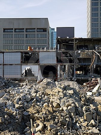Urban renewal: office blocks and demolition