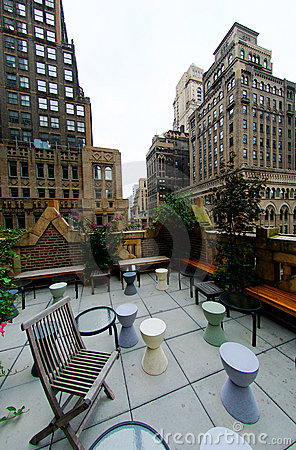 Free Urban Rooftop Terrace Stock Images - 12400004