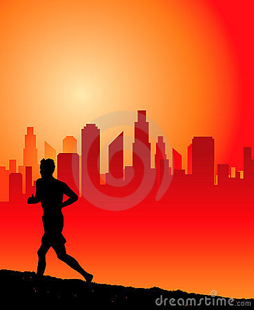 Urban runner graphic