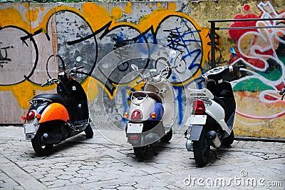 Urban Scooters Grunge Graffiti