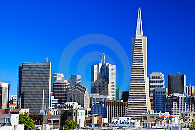 Urban skyline, downtown San Francisco Editorial Image