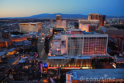 Urban skyline, Las Vegas, Nevada Editorial Image