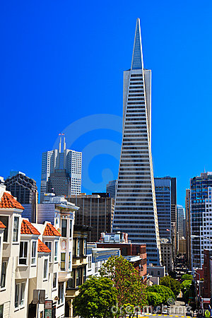 Urban skyline, Transamerica Pyramid, San Francisco
