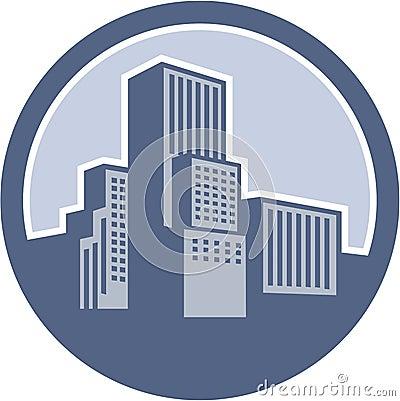 Urban Skyscraper Buildings Circle
