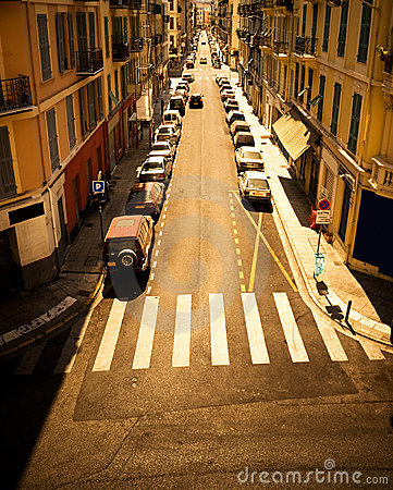 Urban street with cars