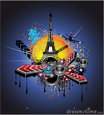 Urban Style Paris Disco Background