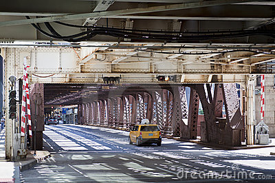 Urban Style: Taxi on Bridge
