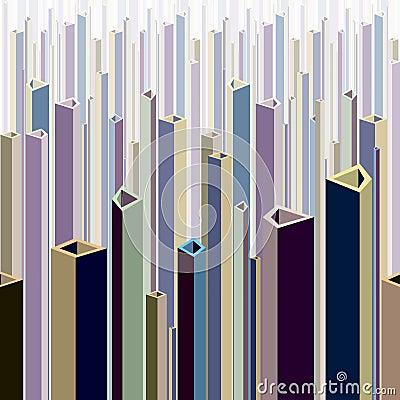 Urban theme abstract illustration.