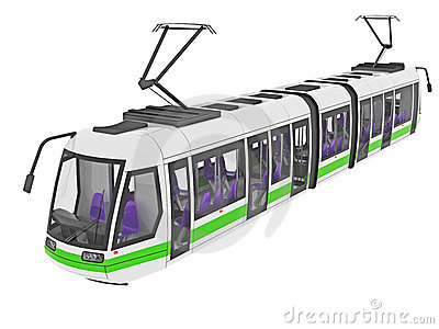 Urban tram illustration
