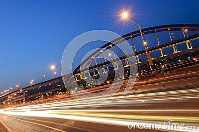Urban transport scenery