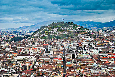Urban view of Quito Editorial Stock Photo