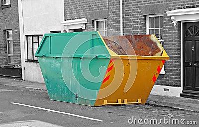 Urban waste skip