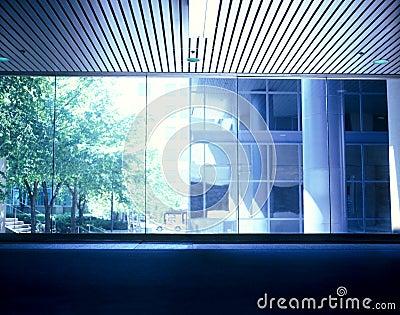 Urban window view