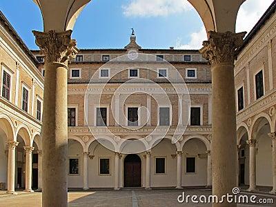 Urbino duke s palace courtyard