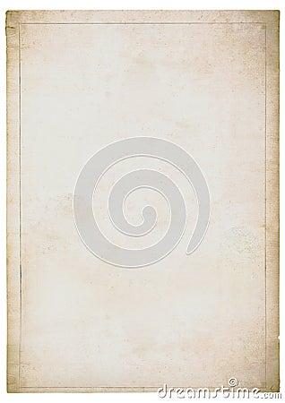 Urblekt gammal paper arkwhite