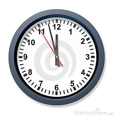Urgent deadline with a clock