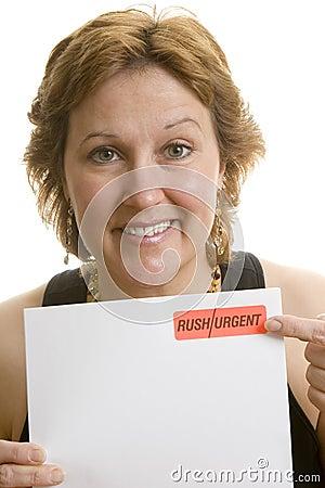 Urgent letter reminder