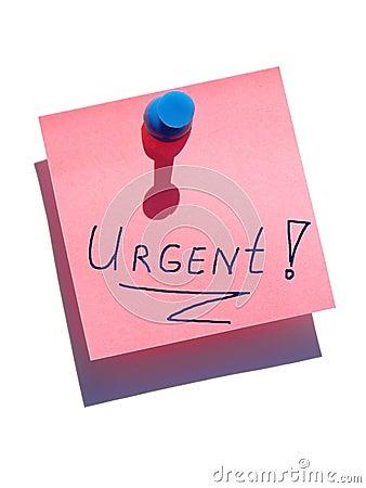 Urgent note