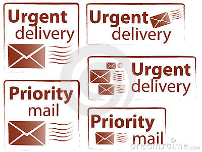 Urgent & Priority stamps