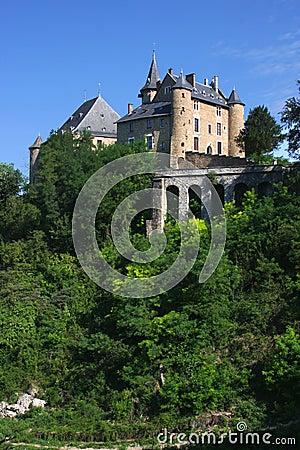 Uriage Castle over nature