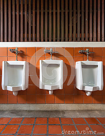 Urinal in public toilet